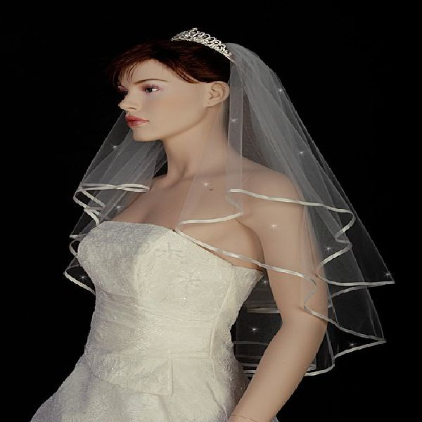 1T Swarovski rhinestone shoulder wedding bridal veil