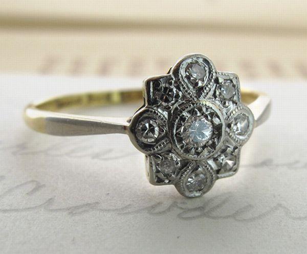 unique vintage engagement rings wedding clan
