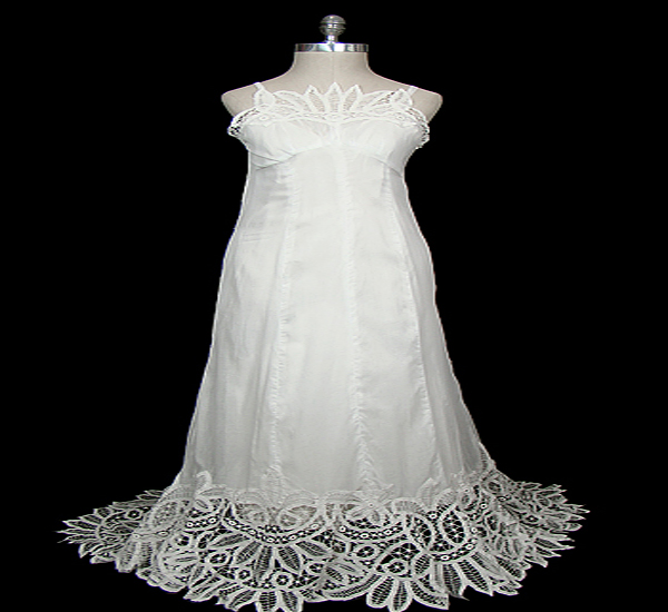 Belgian lace gown
