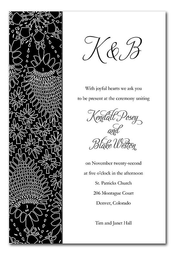 Best Black And White Wedding Invitations