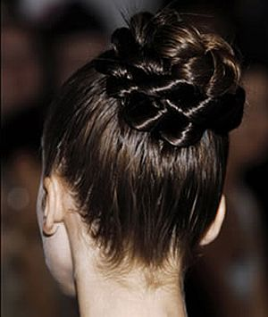 braid chignon to match indian wedding 49