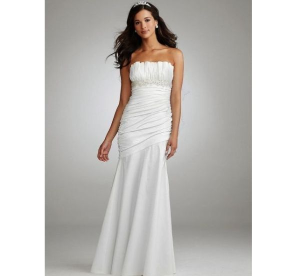 Bridal Ruched Strapless Gown