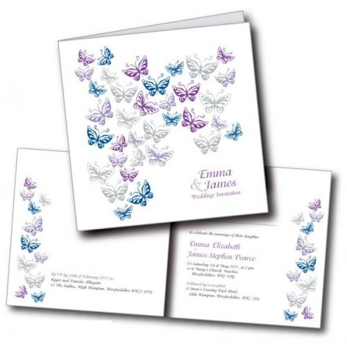 Cute And Romantic Butterfly Wedding Invitations