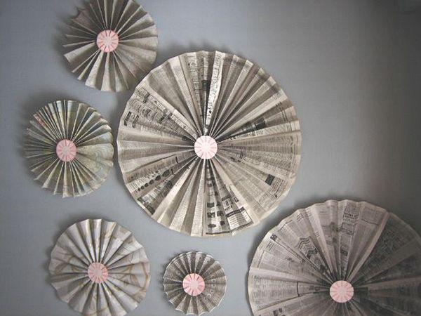 DIY accordion pinwheel fan