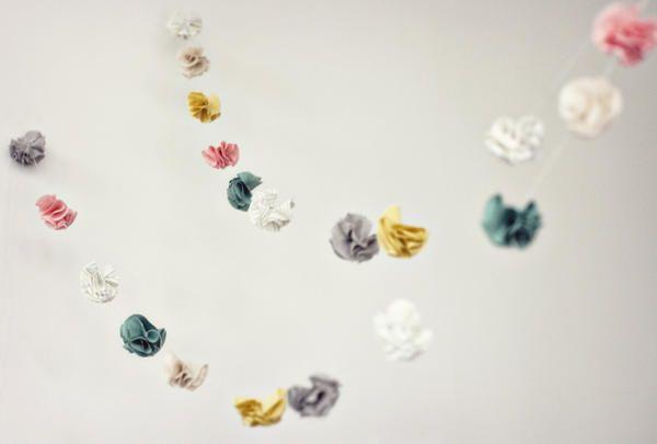 Fabric flower garland