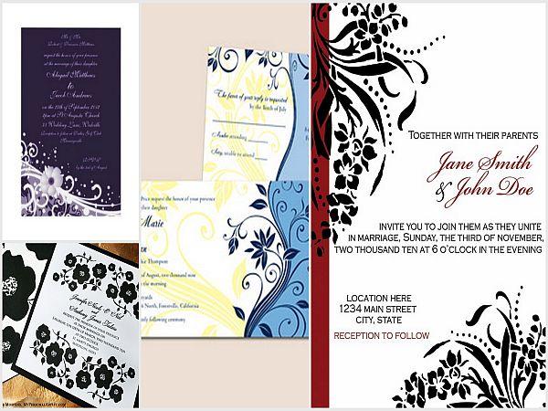 Floral invitation cards