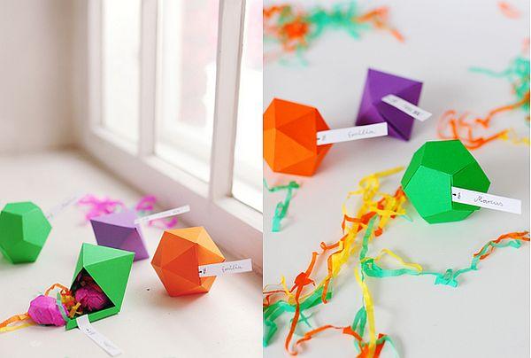 Geometric favor boxes