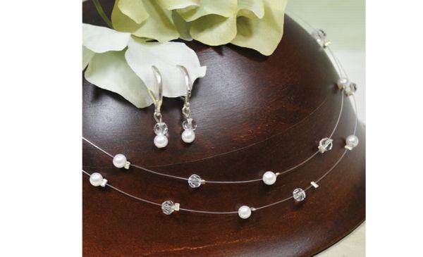 Illusion Bridesmaid Jewelry Set