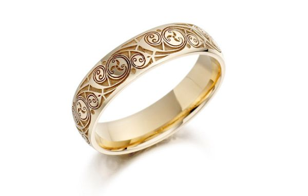 Celtic wedding rings symbolizing eternal love and loyalty
