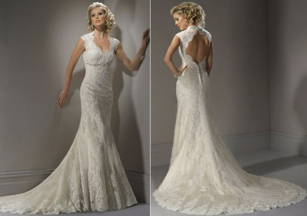 Lace Wedding Dress With Keyhole Back Shopping Blog