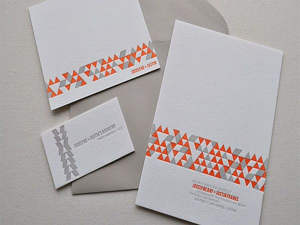 Modern candy invitation cards