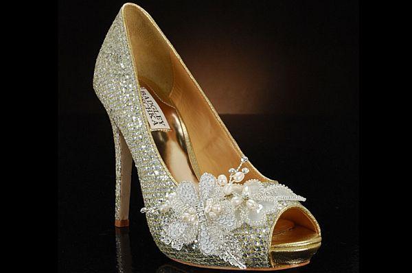 wedding shoes bride shoes sheepskin gold luxurious nobleness very high platform pumps