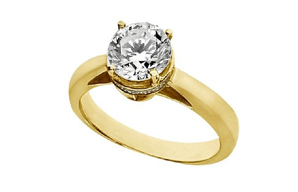 Yellow Gold Engagement Rings Yellow Gold Engagement Rings Pave Settings