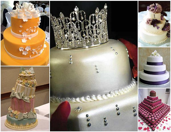 Types of wedding cakes