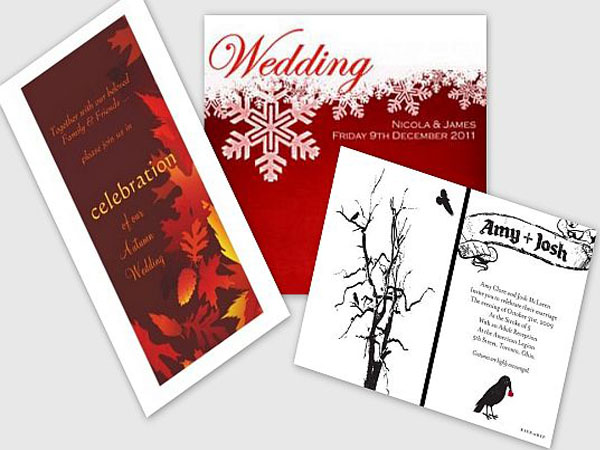Vibrant and festive invitation cards