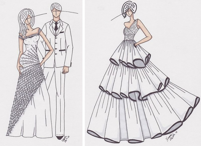 Amazing How To Draw Gowns Mold - Ball Gown Wedding Dresses - wietpas ...