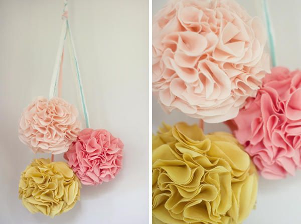 Wedding pom poms