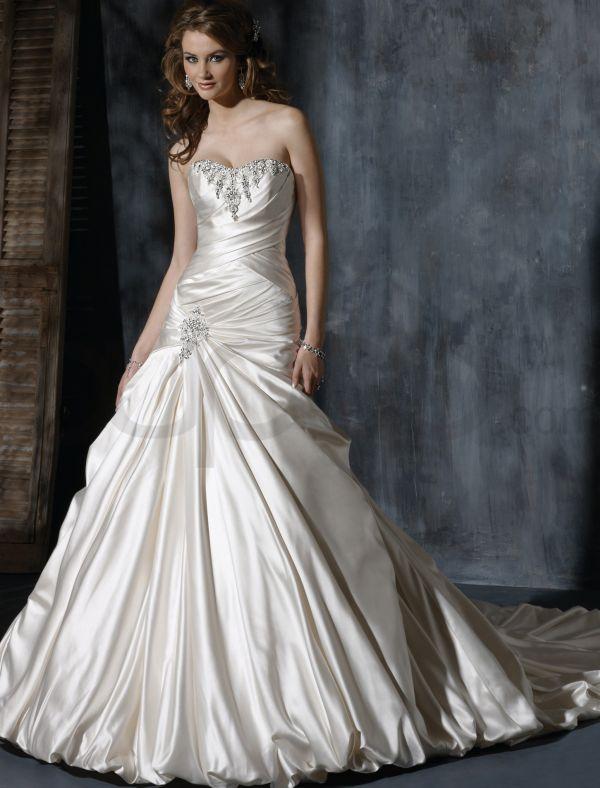taffeta-strapless-dipped-neckline-a-line-wedding-dress