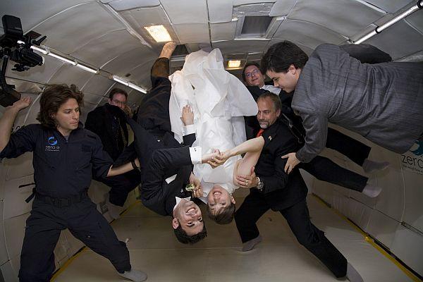 Zero Gravity Wedding