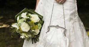 bride with bag