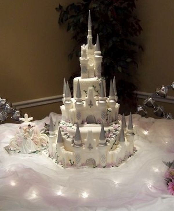 Disney Castle Wedding Cake