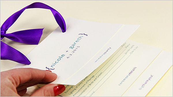 wedding card program