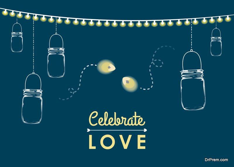 Mason Jar Wedding Card Invitation