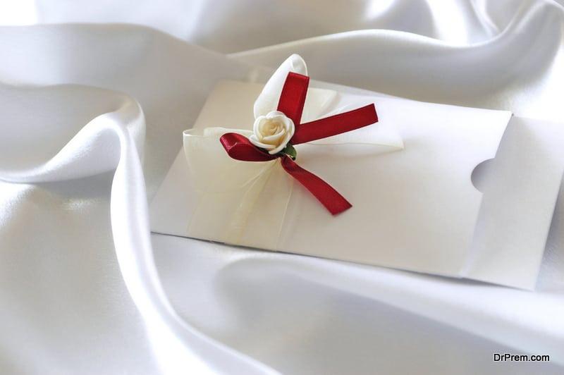 Fall-themed wedding invitations