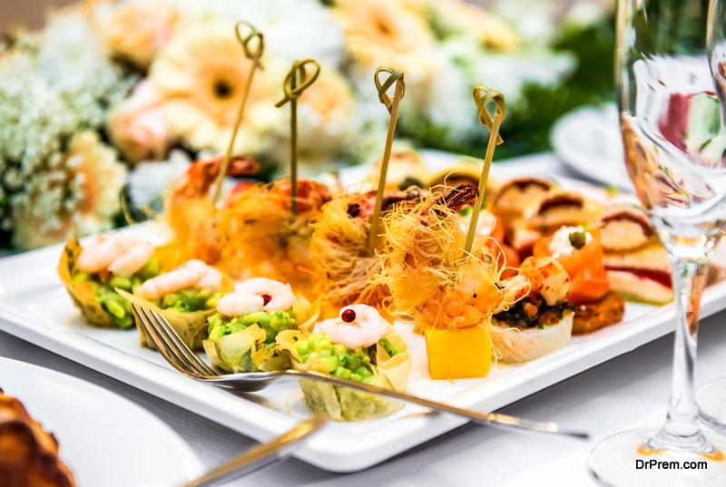 Wedding food tips
