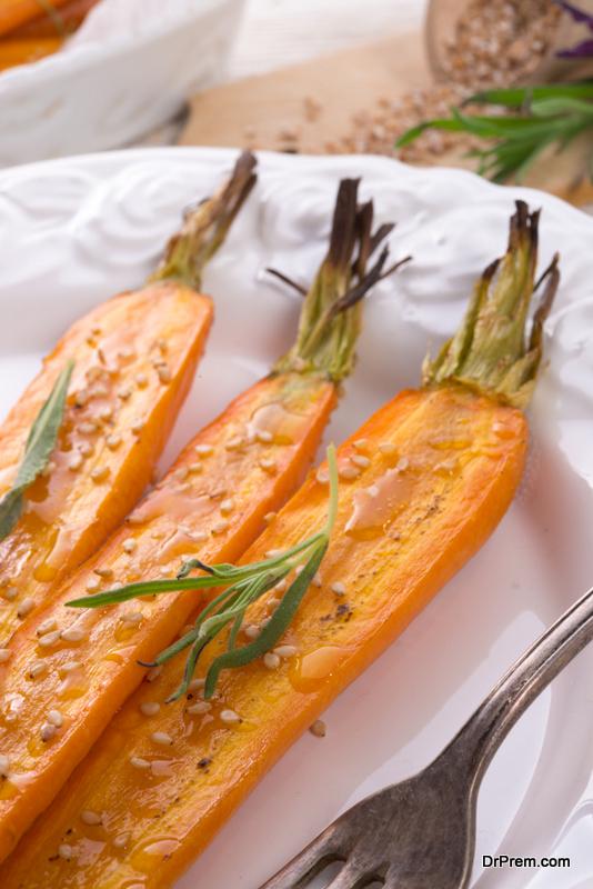 Grilled veggies with tahini