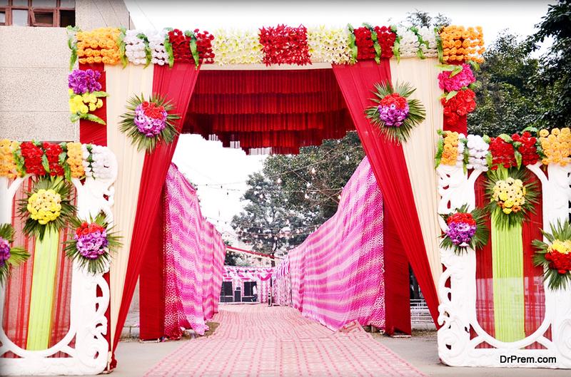 South East Wedding entrance