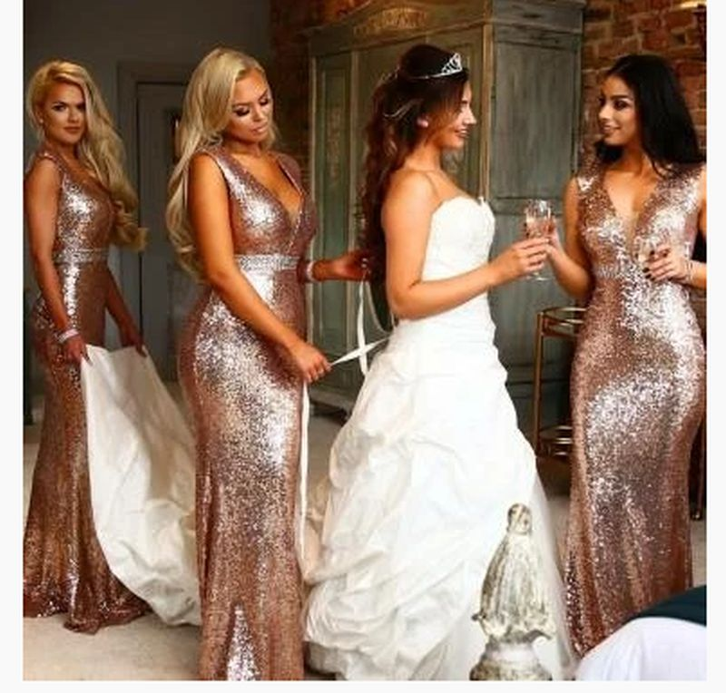 perfect Rose Gold Bridesmaid Dresses