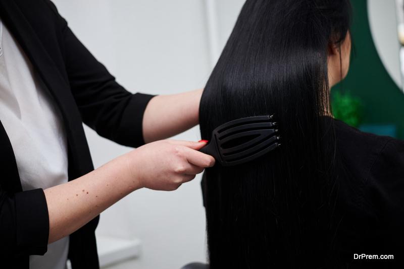 using Hairbrush