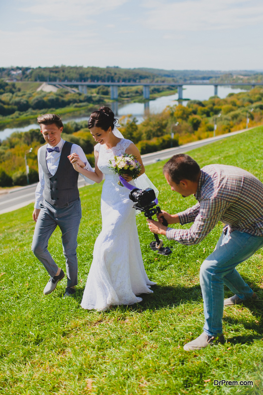 wedding couple hired a Videographer