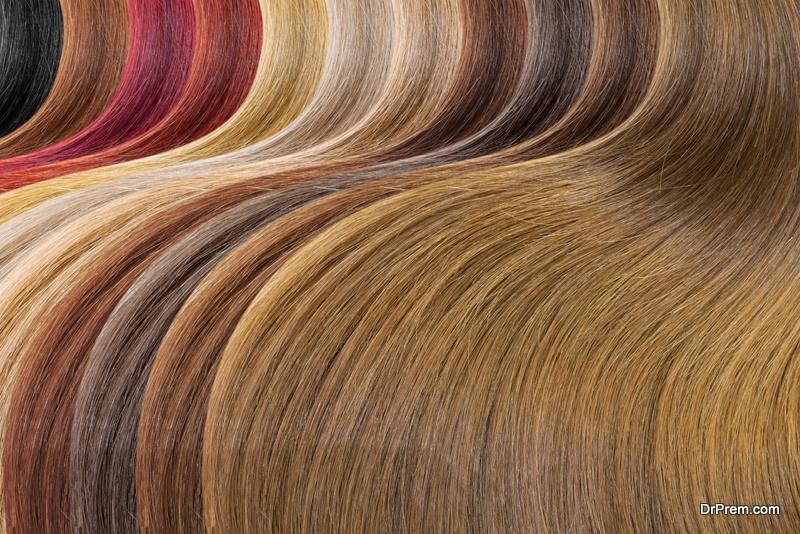 wedding day hair color