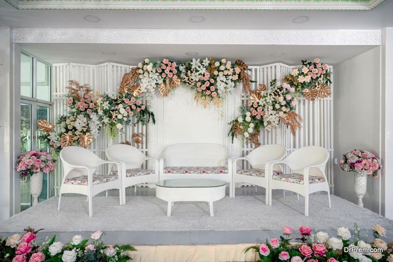 White theme of wedding